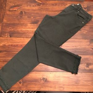 Dark olive green jeans